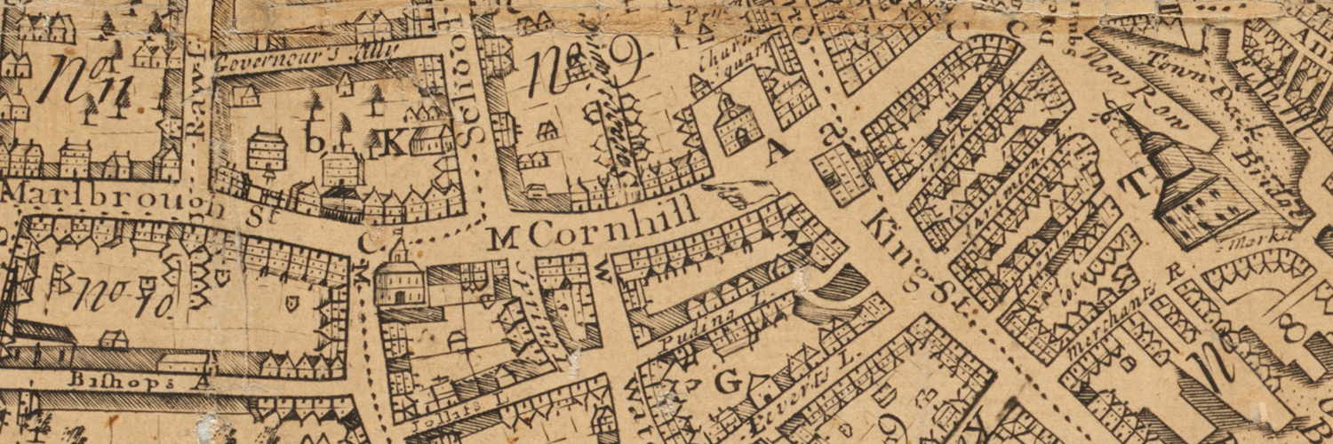 A 1769 map of Boston.