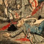 Close-up of two of the victims of the Boston Massacre.