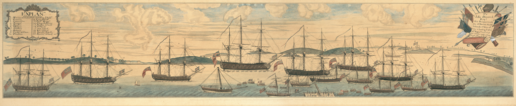 A Perspective View of the Blockade of Boston Harbor