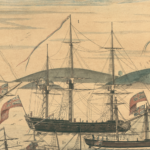 Detail of A Perspective View of the Blockade of Boston Harbor