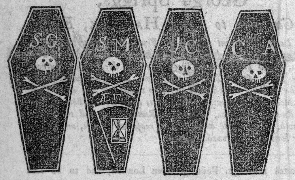 Victims' Coffins from The Boston Gazette