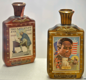 CRISPUS ATTUCKS AND BENJAMIN FRANKLIN DECANTERS