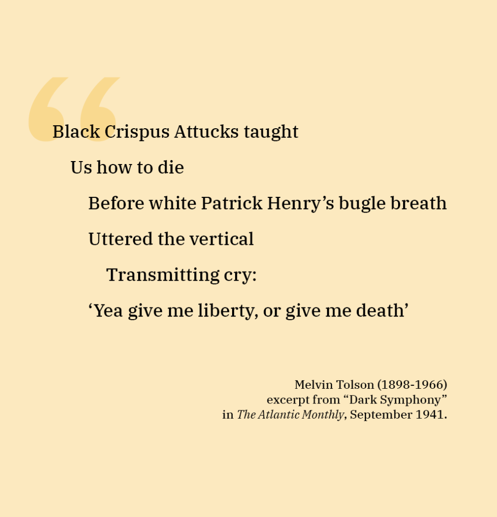POEM BY MELVIN TOLSON