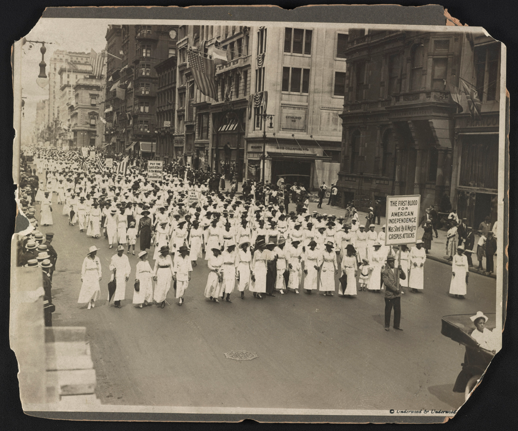 Silent Parade in New York City Against the East St. Louis Riots